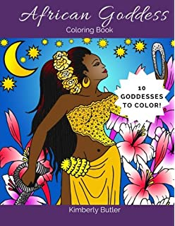 African Goddess Coloring Book For Adults And Children