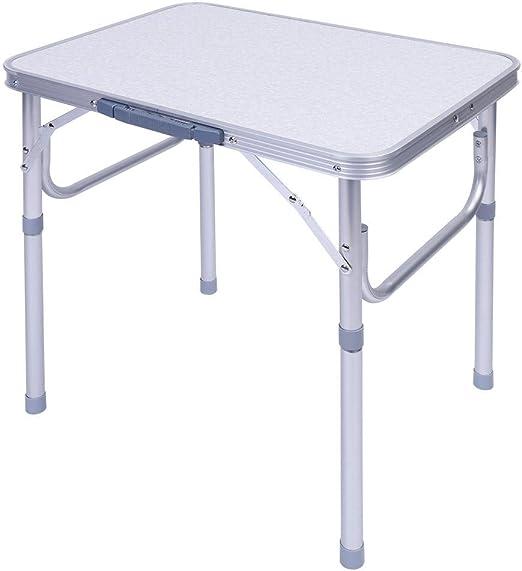 Zerone Mesa Plegable Ajustable Picnic, Aluminio Plegable Portátil ...