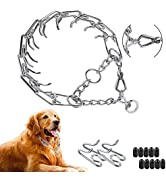 Dog Prong Collar, Dog Pinch Training Collar with Quick Release Clip, Adjustable Stainless Steel L...