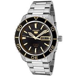 Seiko Men's SNZH57 Seiko 5 Automatic Black Dial Stainless Steel Watch