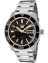 Seiko Mens SNZH57 Seiko 5 Automatic Black Dial Stainless Steel Watch
