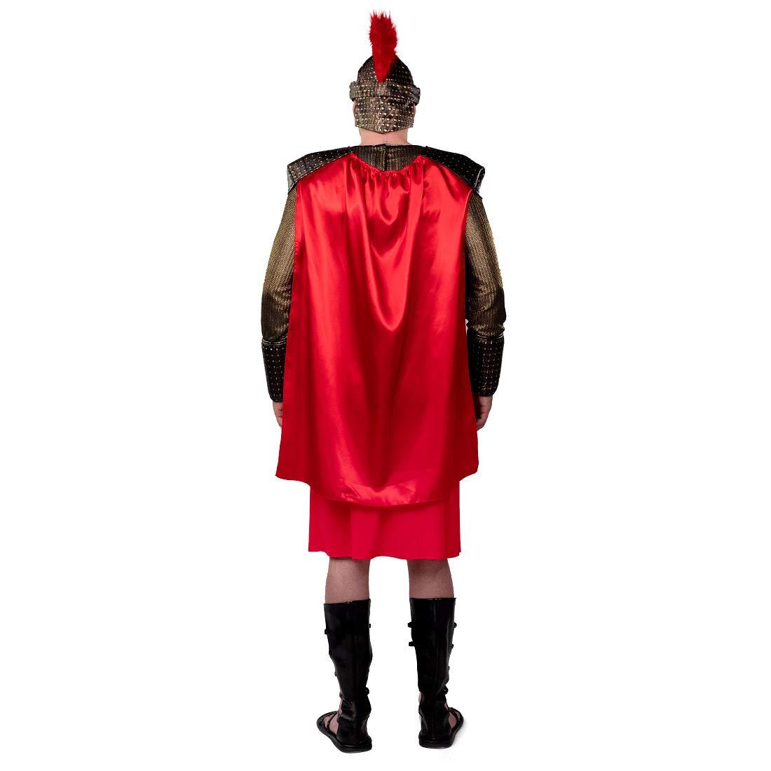 Amakando Estilizado Disfraz Espartano para Adulto / Bronce-Rojo ES ...