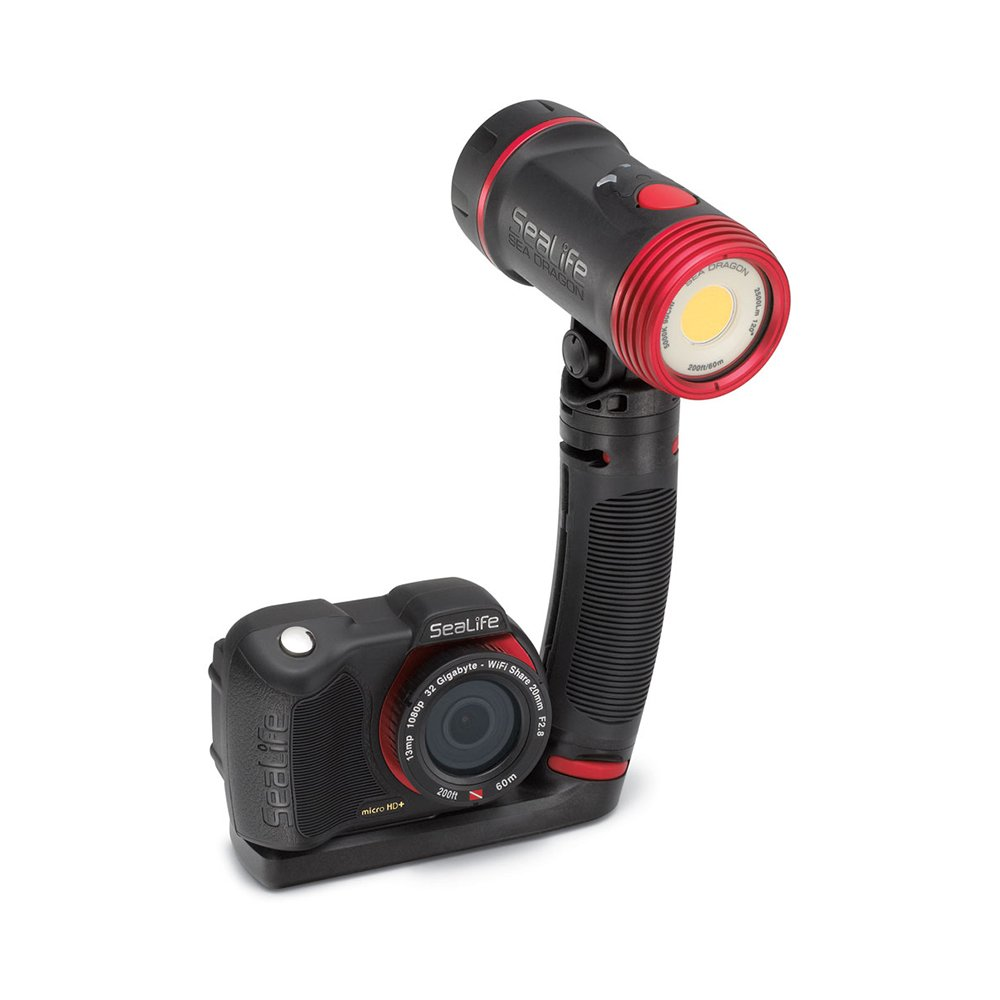 SeaLife SL671 Sea Dragon 2500 UW Photo/Video Dive Light Kit includes Grip, Single Tray & SL942 Sea Dragon Case