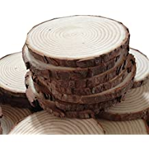 """Fonder Mols Unpainted Natural Round Blank Wood Slices ( 1.6""""-2"""", Pack of 50)"""