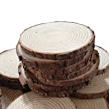 Fonder Mols Unpainted Natural Round Blank Wood Slices (Pack of 50)