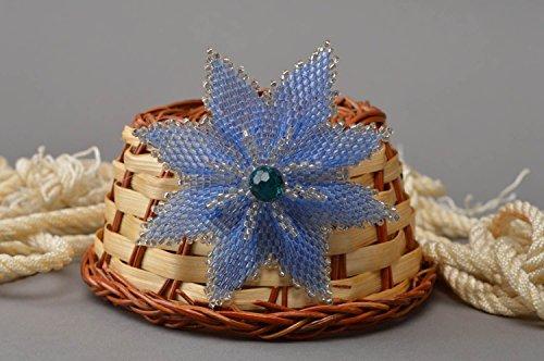Unusual Delicate Handmade Designer Beaded Brooch in The Shape of ()