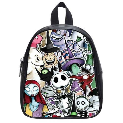 amazoncom cartoon the nightmare before christmas kids pu leather school bag backpack small baby - The Nightmare Before Christmas Backpack