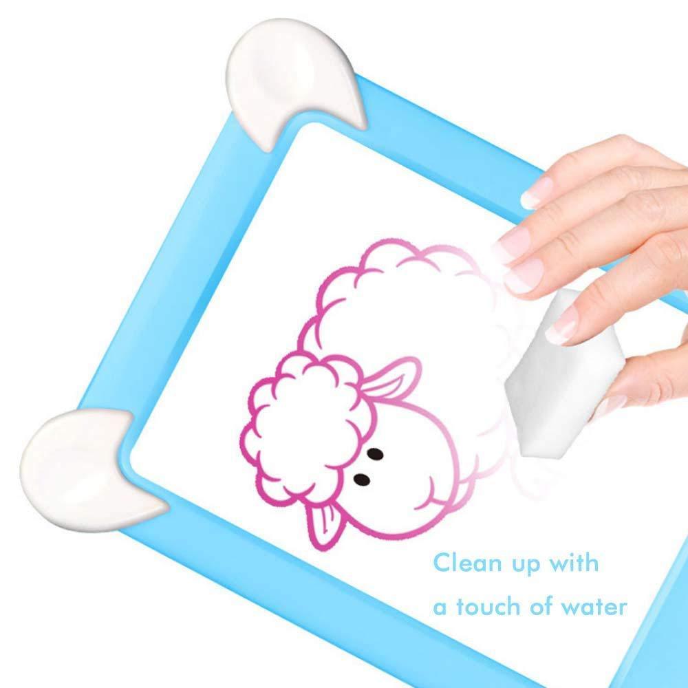 Blau Sunshine smile Magic pad zaubertafel,Magic Pad Mit Magischer Stift,Magic Doodle schreibtafel,Wiederverwendbare Tragbare Zeichenbrett,3D Magic LED Schreibtafel