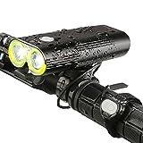 INTEY Bike Light Portable Charger, 5000mAh 1600 Lumens Bicycle Headlight ...