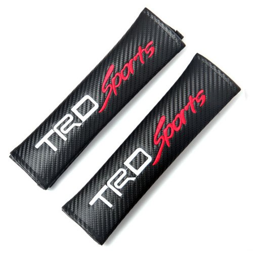 Stanniz(TM) TRD SPORT Toyota Embroidered Seat Belt Shoulder Cushion Cover Pad