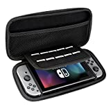 PECHAM Travel Carrying Case for Nintendo Switch with 10 Built-in Game Card Holders - Joy-con & Game Console Accessories Protective Storage Bag