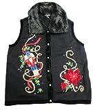 Product review for Lisa International Nutcracker Christmas Sweater Vest A4083 Black