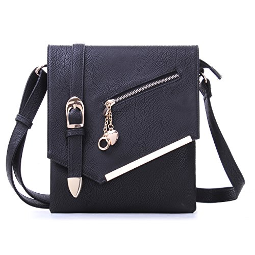 MKF Collection Jasmine Women Stylish Vintage Crossbody Bag Fashion Flap over - Bag Handbag Flap