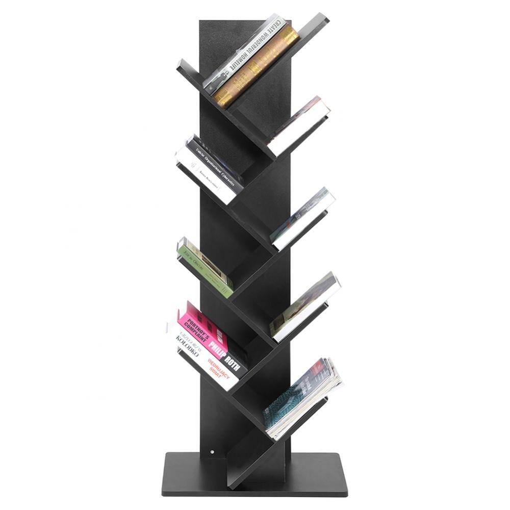 Zerone Libreria Scaffale Mensola, 9 Livelli Organizzatore Muro Soggiorno Ufficio Cameretta Mensola Design Moderno Cubo da Parete CD Scaffale Decorative in Legno (Bianco)