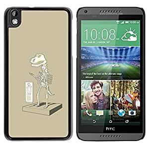 Slim Design Hard PC/Aluminum Shell Case Cover for HTC DESIRE 816 Paleontology T Rex Cartoon / JUSTGO PHONE PROTECTOR