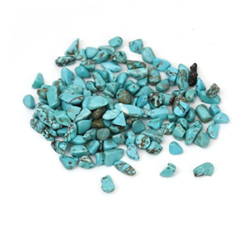 Died Howlite, Turquoise Looking Tumbled Stone Chip Beads, Loose - No Hole Undrilled - 500g / 1.15 lbs, Small 3x4mm - 5x11mm