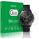 Habyby Shield [Anti-Scratch][Full Coverage] Double Defend Tempered Glass Screen Protector Film for Samsung Galaxy Watch 42mm 2018[2-Pack][Clear]