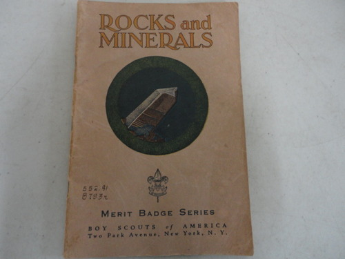 ROCKS AND MINERALS MERIT BADGE SERIES, O'Connell, Daniel T