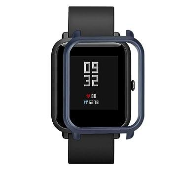 ... Colorida Carcasa de PC Funda Proteger Carcasa para Xiaomi Huami Amazfit Bip Youth Watch Protector para Reloj (Armada): Amazon.es: Deportes y aire libre