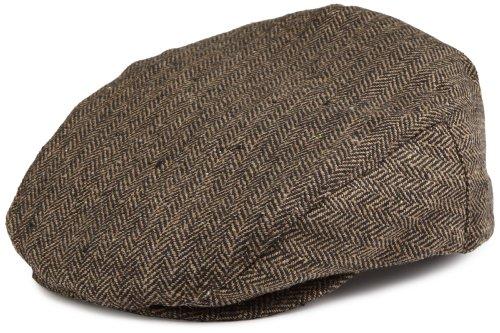 Brixton Cap, brown/khaki herringbone, M, BRIMCAPHOO