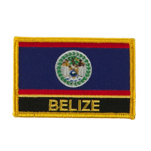 North and South America Flag Embroidered Patch - Belize OSFM