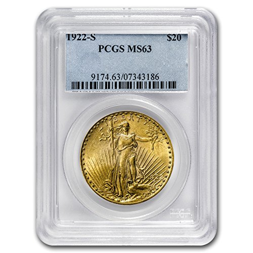 1922 S $20 St. Gaudens Gold Double Eagle MS-63 PCGS G$20 MS-63 PCGS