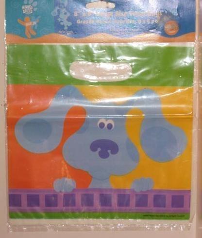 Nick Jr Blues Clues 8 x 8 Large Size Treat Loot Bags from Wilton (8 (Wilton Napkins)