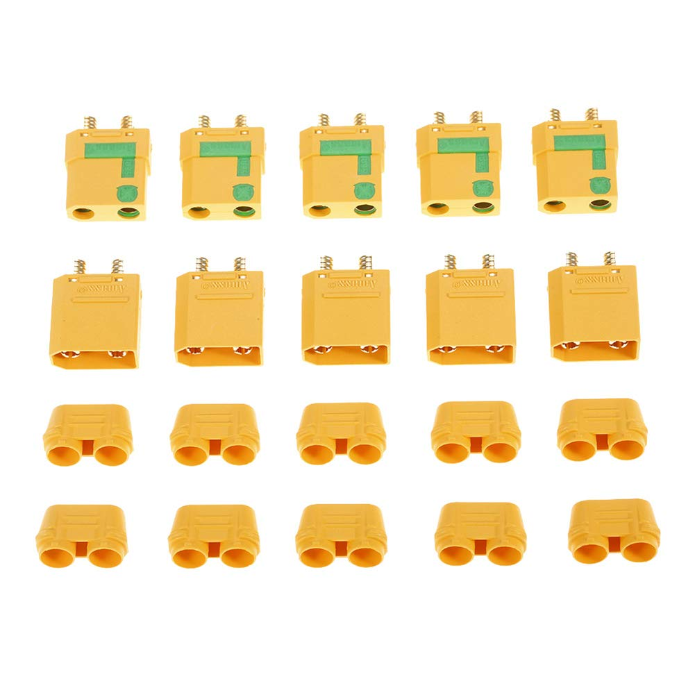 Dnasrivew 5Pairs XT90-S XT90 Protective Cover Male Female Connector Plugs for FPV Drone 1