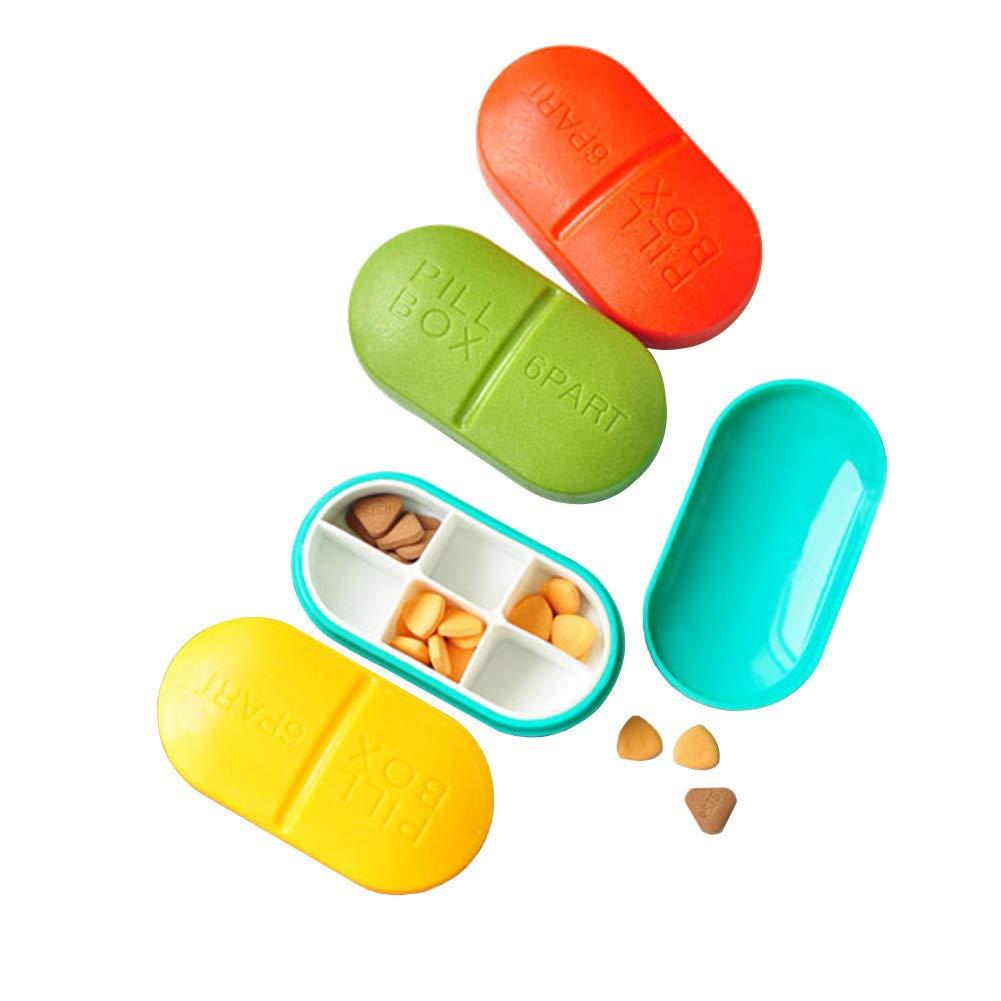 WANGXN 6 Organizador De Píldoras La Caja 6 WANGXN Compara El Contenedor De Ornamentos De Almacenamiento De Cajas De Medicamentos para Viajes 13c6ff