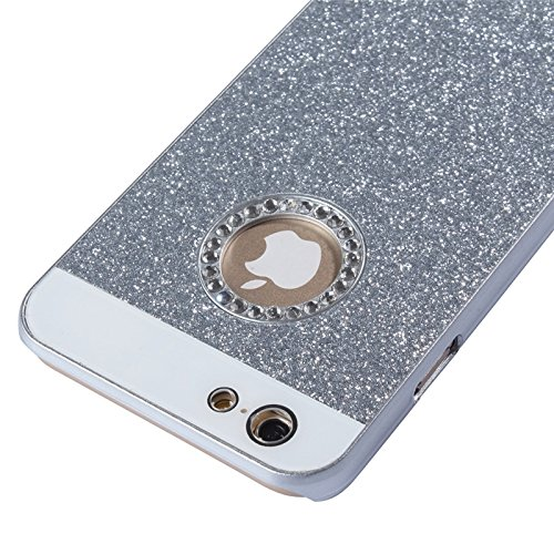 Phone Taschen & Schalen UV Shimmering Powder Diamond-verkrustete schützende Hard Case für iPhone 6 Plus & 6S Plus ( Color : Silver )