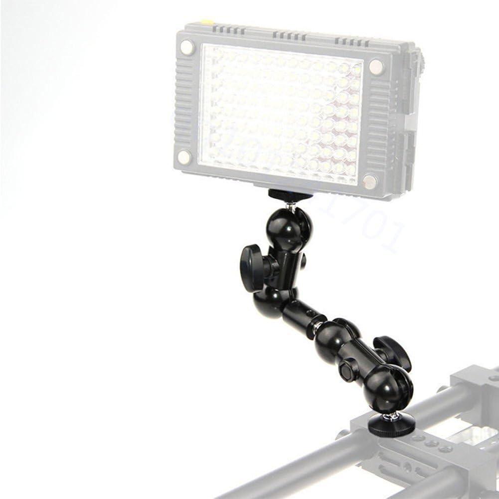 Powerfulline 360 Degree 1//4Inch Articulating Magic Arm Mount Adapter Camera Monitor LED Light