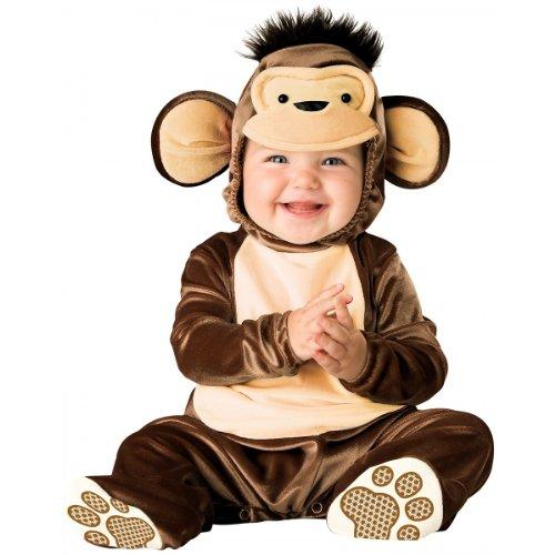 [InCharacter Costumes Baby's Mischievous Monkey Costume, Brown/Cream, Large] (Little Girl Monkey Costume)