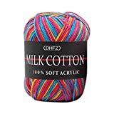 Tpingfe Cotton Wool Yarn, Colorful Hand Knitting, 50g Knitting...