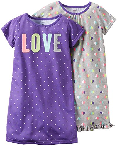 Carter's Print Gowns (2 Pack), Dots/Hearts, 4-5