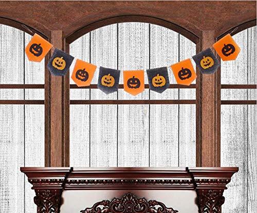 Burlap Pumpkin Banner Season Treasure 6ft Handmade Halloween Decoration Garland w 9pcs Glittered Pumkin for Party Decor (Fashion Pumpkin) -