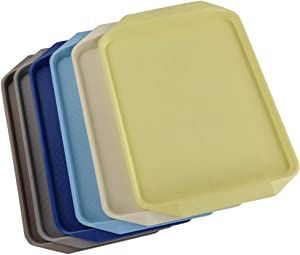 Pekky Plastic Fast Food Trays for Eating, 16.7