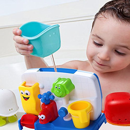 Baby Bath Toy Kids 'Spray faucet Play Plastic Multicolor Wash Toys Spray Water Shower Gift