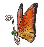 Home & Garden Metal Butterfly Solar Light (Orange/Yellow)