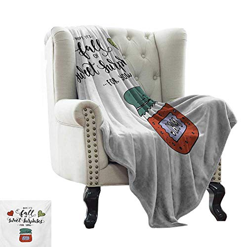 LsWOW Plush Throw Blanket Hope,Hand Drawn Jam in a Jar Brush Lettering with Romantic Hearts Hope is Sweet Surprises,Multicolor Reversible Soft Fabric for Couch Sofa Easy Care 60