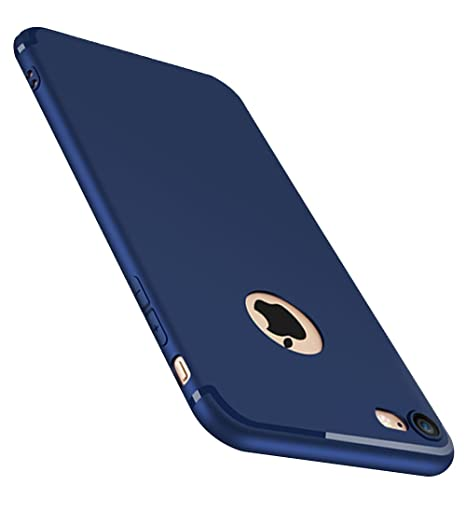 ZHIYIJIA Funda iPhone 7,Suave Ligera iPhone 7 Carcasa Mate Anti Choque Anti-Arañazos Antideslizante Estuche para Apple iPhone 7-Azul