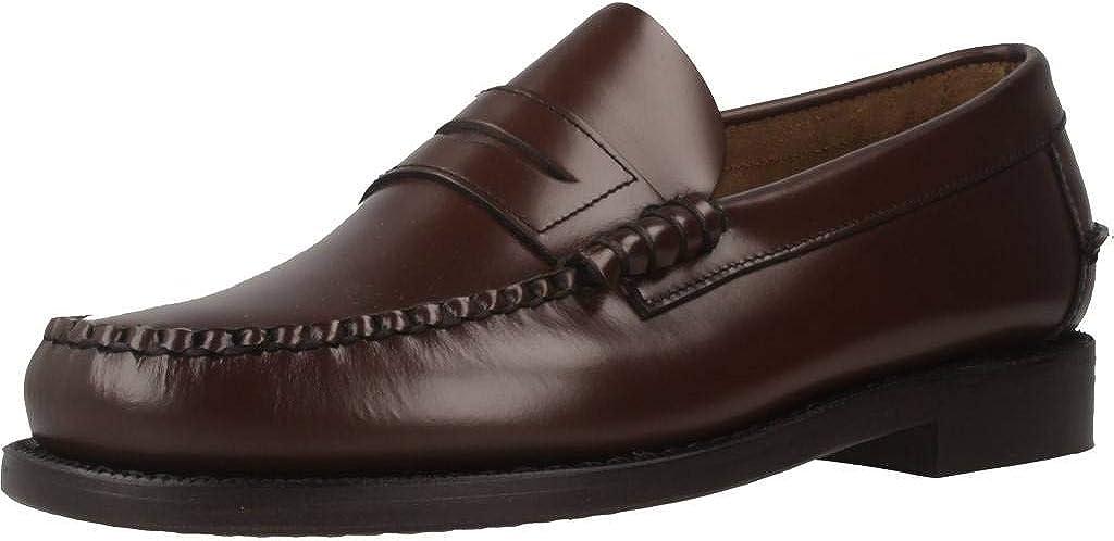 Zapato Mocas/ín Hombre Sebago Classic 76660 Color Marr/ón Piel