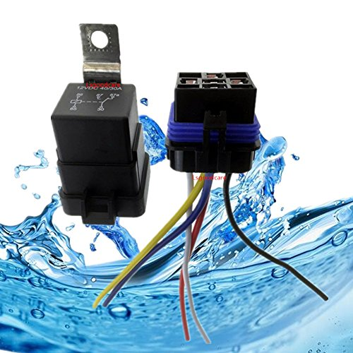 - Automotive Relays 12V 5 Pin, Lsgoodcare 40/30 Amp Waterproof Relay Switch Harness Set, SPDT Car Boat Relays with 14 AWG 16 AWG Wiring Sockets