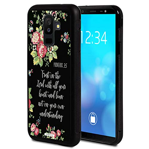 Galaxy J8 2018 Case,AIRWEE Slim Shockproof Hard PC Soft Silicone Protective Cover Case for Samsung Galaxy J8 2018 6.0 Inch,Bible Verse Proverbs 3:5 Trust in The Lord with All Your