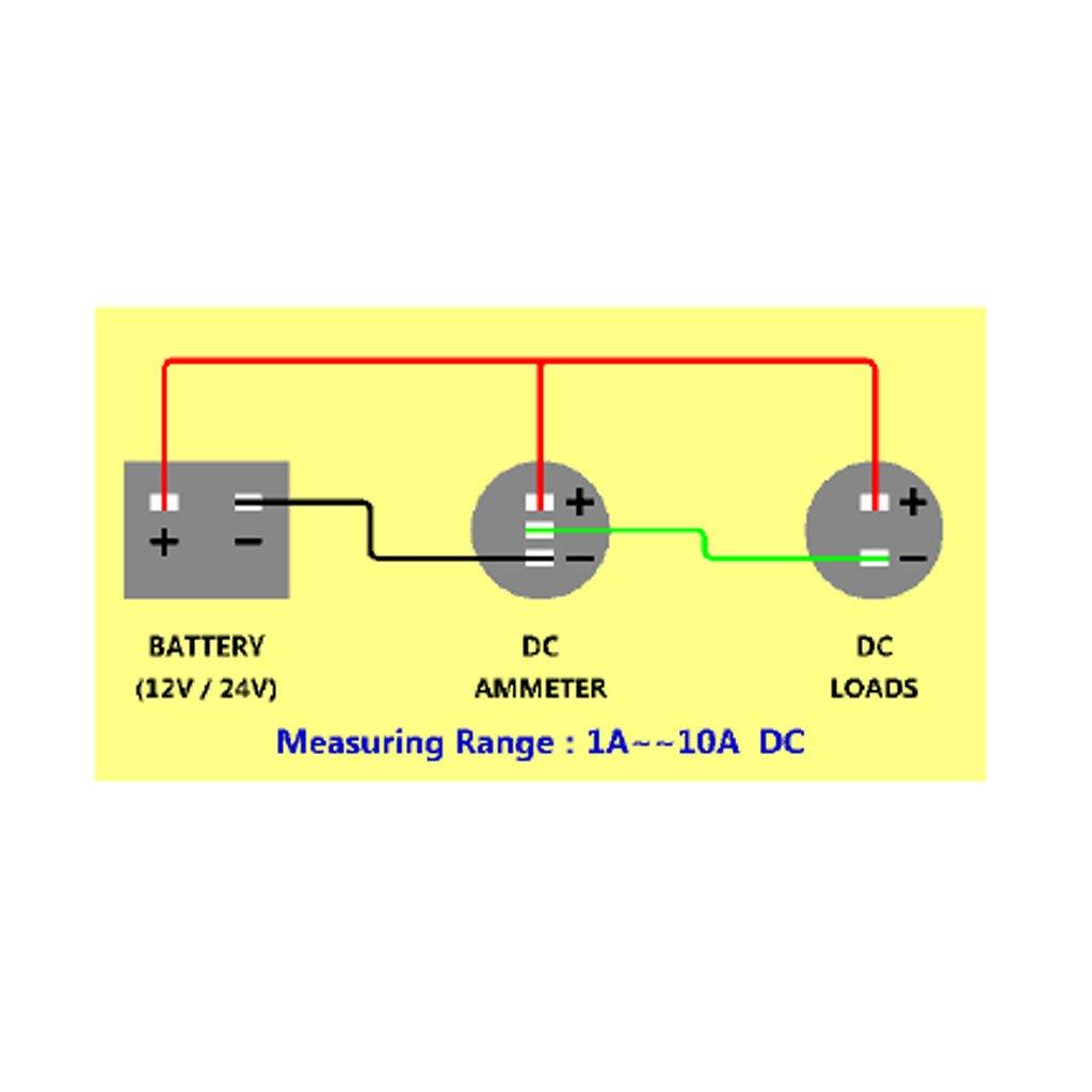 12-24V KFZ Motorrad LED Digital Voltmeter Amperemeter Ampere Volt ...
