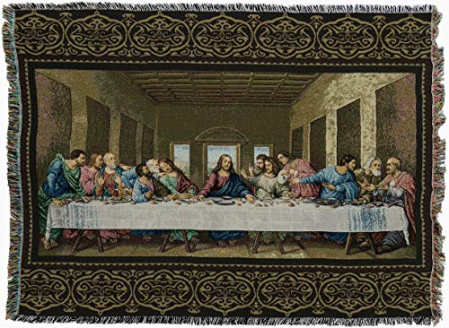 """Used, Pure Country Weavers """"The Last Supper Blanket"""" Tapestry for sale  Delivered anywhere in USA"""