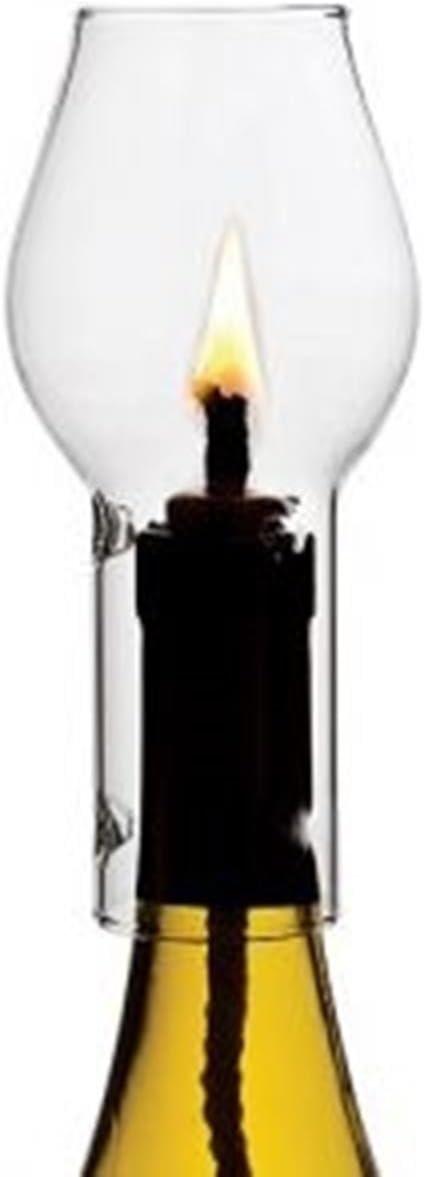 Glass Wine Candle Chimney Set