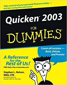 Quicken 2003 For Dummies (For Dummies Series)