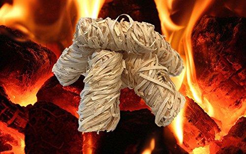 SaMore GmbH 10kg Eco Accendifuoco per camino, Griglia, Accendifuoco lana in legno di accensione lana