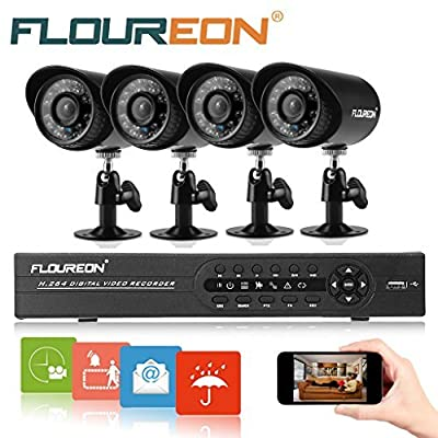 FLOUREON 8 CH House Camera System DVR