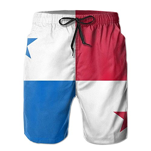best bags Panama Countries Flag Summer Quick-Drying Board Short Swim-Trunk for Men Large